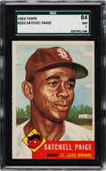 Baseball Cards:Singles (1950-1959), 1953 Topps Satchell Paige #220 SGC 84 NM 7....