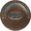 """George Washington: """"Long Live the President"""" 1789 Brass Inaugural Coat Button"""