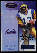 Football Cards:Singles (1970-Now), 1999 Playoff Contenders Kurt Warner #146 - Rookie Ticket Autograph....
