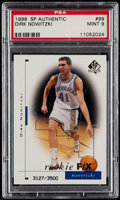 Basketball Cards:Singles (1980-Now), 1998 SP Authentic Dirk Nowitzki #99 PSA Mint 9 - Limited to 3500. ...