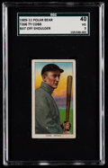 Baseball Cards:Singles (Pre-1930), 1909-11 T206 Polar Bear Ty Cobb (Bat Off Shoulder) SGC 40 VG 3....