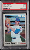 Baseball Cards:Singles (1970-Now), 1970 Topps Nolan Ryan #712 PSA EX 5....