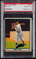 Baseball Cards:Singles (1940-1949), 1941 Play Ball Mel Ott #8 PSA EX-MT 6....