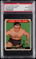 Olympic Cards:General, 1933 Sport Kings Ed Don George #40 PSA NM-MT 8 (OC)....