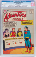 Silver Age (1956-1969):Superhero, Adventure Comics #247 (DC, 1958) CGC VG+ 4.5 Cream to off-whitepages....