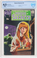 Bronze Age (1970-1979):Horror, House of Secrets #92 (DC, 1971) CBCS VG+ 4.5 White pages....