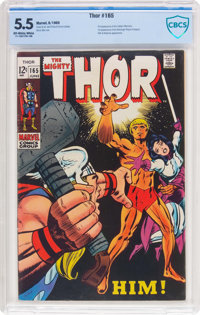 Thor #165 (Marvel, 1969) CBCS FN- 5.5 Off-white to white pages