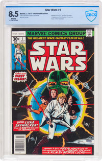 Star Wars #1 (Marvel, 1977) CBCS VF+ 8.5 White pages