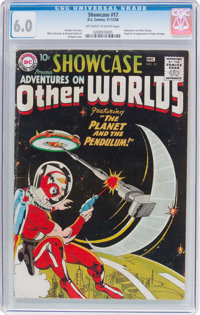 Showcase #17 Adventures on Other Worlds (DC, 1958) CGC FN 6.0 Off-white to white pages