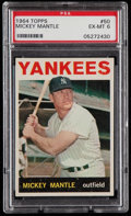 Baseball Cards:Singles (1960-1969), 1964 Topps Mickey Mantle #50 PSA EX-MT 6....