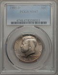 Kennedy Half Dollars, 1985-D 50C MS67 PCGS. PCGS Population: (96/1). NGC Census: (104/3).Mintage 19,814,034. ...