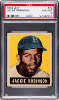 Baseball Cards:Singles (1940-1949), 1948 Leaf Jackie Robinson #79 PSA NM-MT 8....