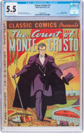 Golden Age (1938-1955):Classics Illustrated, Classic Comics #3 The Count of Monte Cristo (Gilberton, 1942) CGCFN- 5.5 Slightly brittle pages....