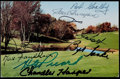 Golf Collectibles:Autographs, Golf Legends Signed Postcard - Featuring Henry Picard, MaxFaulkner, Bob Goalby, and more. ...