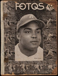 Baseball Collectibles:Others, 1948-49 Monte Irvin Almendares Team Premium & Magazine Trio (3)- Cuban Pre-Rookie Era. ...