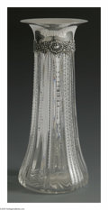 Silver Holloware, American:Vases, An American Silver And Glass Vase. Mark of Deitsch Bros., New York,NY, Late Nineteenth Century. The ribbed glass vase wit...