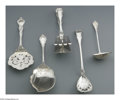 Silver Flatware, American:Durgin, An American Silver Ice Cream Server, Gravy Ladle and a Cream LadleMarks of Durgin, Concord, NH, and S. Kirk Co., Baltimore... (3Items)
