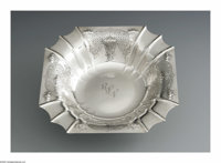 An American Silver Bowl Mark of Tuttle Silversmiths, Boston, MA, Early Twentieth Century  The square edged bowl with eng...