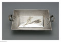 Silver Holloware, American:Trays, An American Silver Card Tray. Mark of Wood & Hughes, New York,NY, Late Nineteenth Century. The Aesthetic Movement double-...