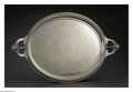 Silver Holloware, American:Trays, An American Silver-Plate Tray. Maker unknown, Early TwentiethCentury. The 'Medallion' handled tray with an engraved cente...