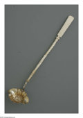 Silver & Vertu:Flatware, A Continental Silver and Ivory Ladle. Maker unknown, Early Nineteenth Century. An Austria-Hungarian ladle with silver bowl... (Total: 1 Item Item)
