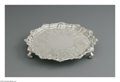 Silver Holloware, British:Holloware, An English Silver Salver. Hands & Son, London, England, 1849.The tri-footed engraved tray, hallmarks underside, total wei...