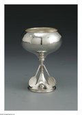 Silver & Vertu:Hollowware, An English Silver Trophy. Maker unknown, Birmingham, England, 1928. The stemmed chalice trophy with three applied tennis r... (Total: 1 Item Item)