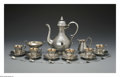 Silver Holloware, Continental:Holloware, A Continental Coffee Service. Maker unknown, Late NineteenthCentury. The 21-piece set comprising a coffee pot, creamer, o...(Total: 21 Items)