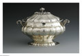 Silver Holloware, American:Entrée Dishes, A Continental Silver Tureen And Lid. Maker unknown, Late NineteenthCentury. The footed tureen with gilt interior, the lid... (Total: 2Items)