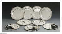 Twelve Mexican Silver Under Plates Mark of Tane, Mexico City, Mexico, Twentieth Century  The twelve plates with shell an...