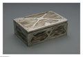 Silver Holloware, American:Mixed Metal, A Mixed Metal Cigar Box. Maker unknown, Early Twentieth Century. The rectangular cedar lined box with a mixed metal and st...
