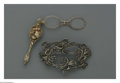 Silver Smalls:Other , An American Silver Lorgnette And Hair Ornament. Mark of UngerBrothers, Newark, NJ; and unknown maker, Late Nineteenth Centu...(Total: 2 Items)