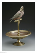 Decorative Arts, Continental:Other , An Austrian Bronze Cockatoo Compote. Maker unknown, Late NineteenthCentury. The bronze alloy compote with soldered Austri...