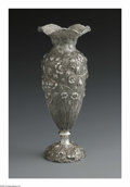 Silver & Vertu:Hollowware, An American Silver Vase. Mark of Loring Andrews Co., Cincinnati, OH, Late Nineteenth Century. The floral repousse vase, ma... (Total: 1 Item Item)