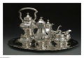 Silver Holloware, American:Tea Sets, An American Silver Tea and Coffee Service. Mark of Tuttle Silversmiths, Boston, MA, Mid-Twentieth Century. The 'Onslow' pa... (Total: 7 Items)