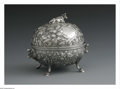 Silver Holloware, American:Other , An American Silver Covered Butter Dish. Mark of Kennard &Jenks, Boston, MA, c.1875. The repousse bowl and lid, the bowl r...