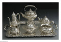 Silver Holloware, American:Tea Sets, An American Silver Tea Set. Mark of Tiffany & Co., New York,NY, Early Twentieth Century. The set includes a hot water ket...(Total: 8 Items)