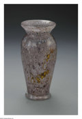 Art Glass:Other , An American Glass Vase. Nash, c.1920. The purple trapped air bubblevase with occasional yellow mottles, marked underside ...