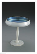 Art Glass:Steuben, An American Glass Compote. Steuben, c.1920. The opalescent whitecompote with 'Blue Calcite' interior, unmarked. 6.2in. hi...