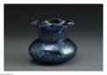Art Glass:Loetz, An Austrian Glass Vase. Loetz, c.1900. The blue ground with lighterblue oil spot pattern, unmarked. 4.8in. high...