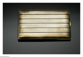 Estate Jewelry:Other , A Gold And Enamel Cigarette Case. The case decorated with blackenamel stripes on gold to both the front and back, the fro...