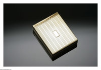 An American Gold Cigarette Case Gold, Most & Fogel, Inc.  The 14K yellow gold hinged and lidded cigarette case with...