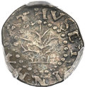 Colonials, 1662 2PENCE Oak Tree Twopence, Small 2, VF35 PCGS. Noe-31, W-240, Salmon 1-A, High R.6....