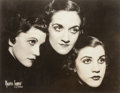 Photographs:Gelatin Silver, Maurice Seymour (American, 20th Century). Three Faces, The Andrews Sisters, circa mid-1930s. Gelatin silver. 7-1/2 x 9-1...