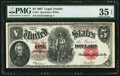 Large Size:Legal Tender Notes, Fr. 91 $5 1907 Legal Tender PMG Choice Very Fine 35 EPQ.. ...