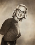 Photographs:Gelatin Silver, Bradford J. Smith (American, 1925-2016). Group of Three Photographs of Women Wearing Glasses, circa 1948. Gelatin silver... (Total: 3 Items)