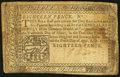 Colonial Notes:Pennsylvania, Pennsylvania April 10, 1777 18d/1s 6d Very Fine.. ...