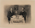 Political:Posters & Broadsides (1896-present), Theodore Roosevelt and Booker T. Washington: Iconic Equality Print....