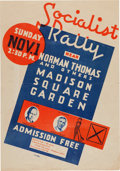 Political:Posters & Broadsides (1896-present), Thomas & Nelson: Awesome 1936 Jugate Poster....