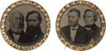 Political:Ferrotypes / Photo Badges (pre-1896), Grant & Wilson and Greeley & Brown: A Choice Matched Pairof 1872 Ferro Jugates. ...